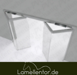 Falttor und Falttore aus PVC Platten / PVC Blatt