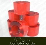 PVC Rolle, Rot/Klar