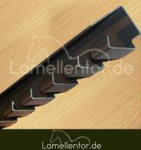 Hakenleiste für PVC Lamellen (Edelstahl)