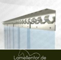 Lamellenvorhang aus PVC Rollen