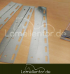 inkl. Bleche für Streifen, zum einhängen in Hakenleiste
