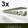 3 x 1m Schiene Edelstahl Wanschiene